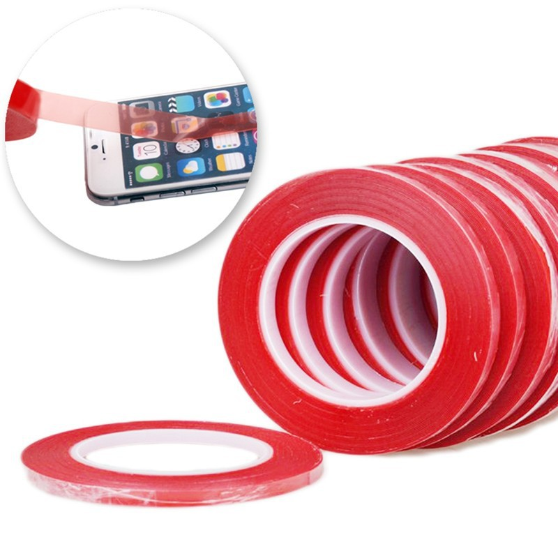 1Roll-2mm25m-Red-High-Strength-Acrylic-Gel-Adhesive-Double-Sided-Tape-Adhesive-Tape-Sticker-For-Phon-32339423804
