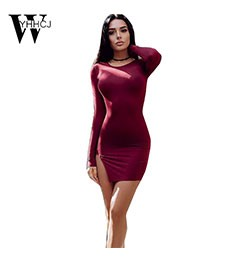 2016-AutumnWinter-Women-Clothes-Korea-Sexy-Solid-Slit-3color-O-Neck-knitting-Dress-Wear-To-Party-Bot-32758384474