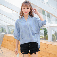 2017-New-Autumn-Casual-Women-Shirts-Loose-Striped-Hollow-Out-Vertical-Cross-Back-Blouse-Shirt-Red-Bl-32748154072