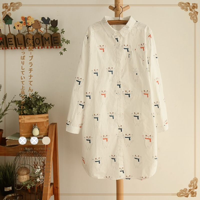 2017-Spring-New-Woman-Shirt-Loose-Turn-down-Collar-Long-Sleeve-Cartoon-Printing-Cotton-Casual-Blouse-32630135210