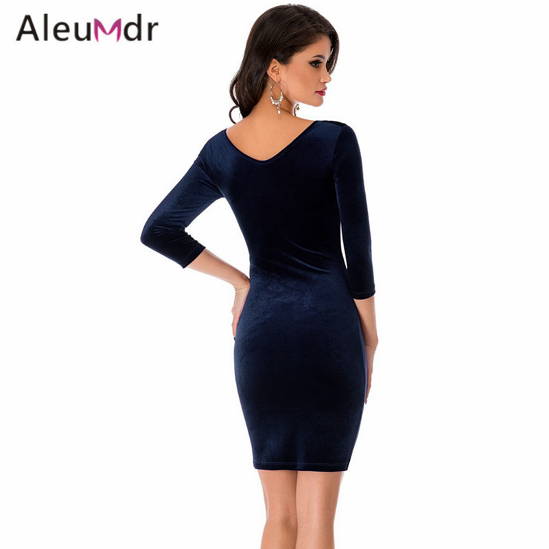 Aleumdr-2017-Formal-Office-Dresses-For-Women-With-Long-Sleeve-Black-Sexy-Hollow-Out-O-Neck-Velvet-Mi-32789535844