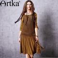 Artka-Women39s-Summer-New-Gradient-Color-Chiffon-Dress-Elegant-O-Neck-Short-Sleeve-Empire-Waist-A-Li-32681402510
