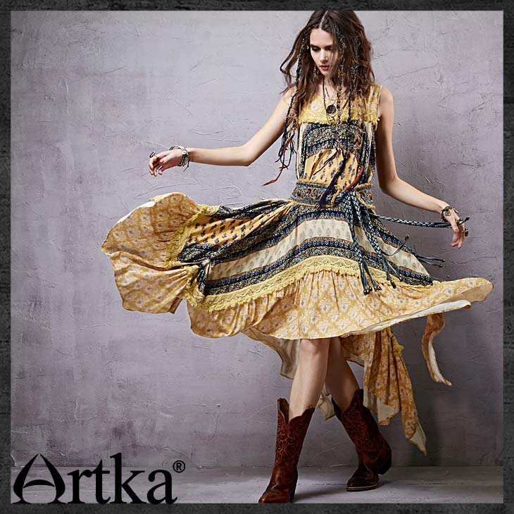 Artka-Women39s-Summer-New-Provins-Vintage-Patchwork-Elegant-Dress-O-Neck-One-piece-Asymmetrical-Dres-32434552267