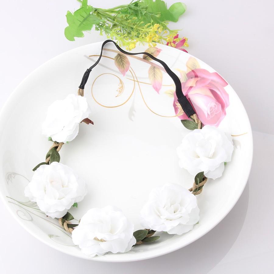 Bohemia Handmade Floral Headband Women Flower Crown Wedding Garland