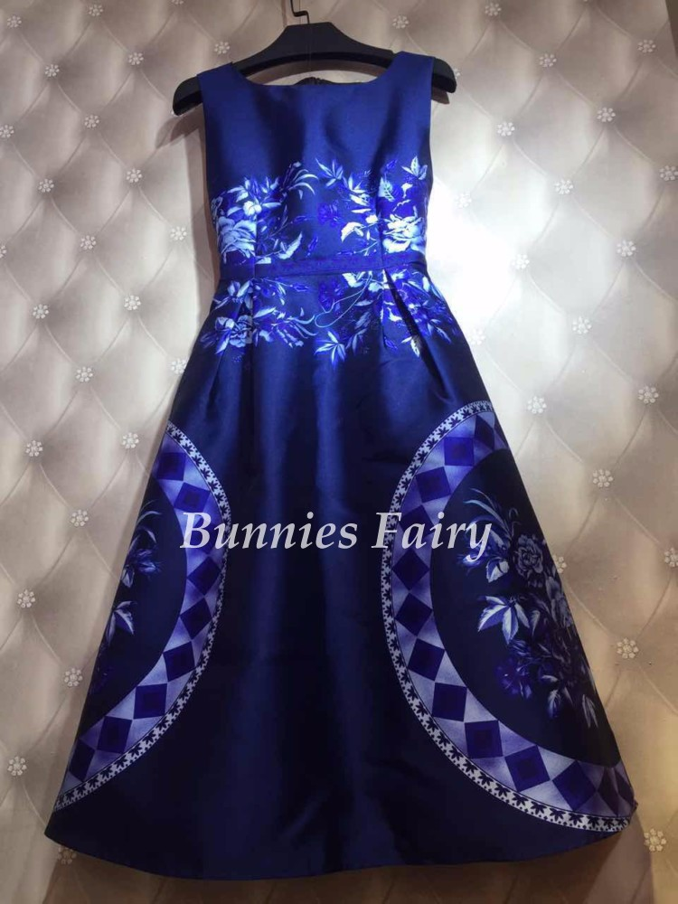 BunniesFairy-2017-Spring-Summer-New-Trendy-Ladies-Retro-Vintage-Token-Floral-Print-High-Waist-A-Line-32630213876