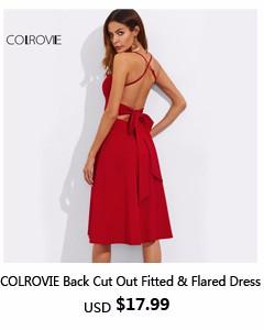 77a9842f46f6 COLROVIE Sexy Gold Spaghetti Strap Open Back Sequins Bodycon Mini ...