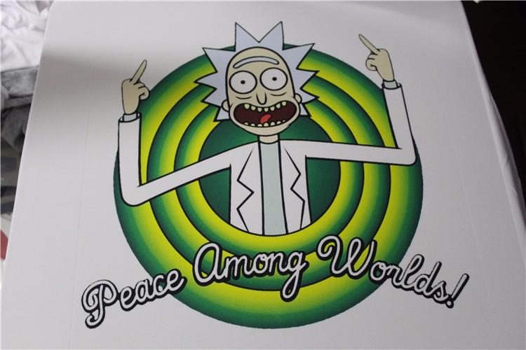 Cool-Rick-Morty-men-t-shirt-2016-Summer-Anime-T-shirts-Peace-among-worlds-folk-White-Fitness-Cartoon-32751217664