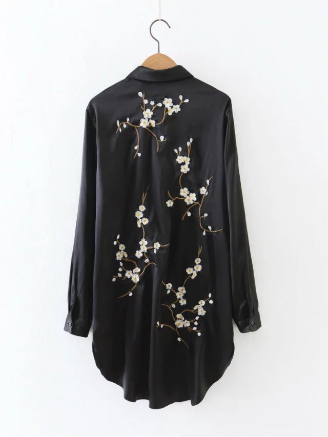 European-Women39s-Shirt-ZA-Style-Women-Tops-Flower-Embroidery-Long-Sleeve-Blouse-Trun-down-Collar-El-32787361135
