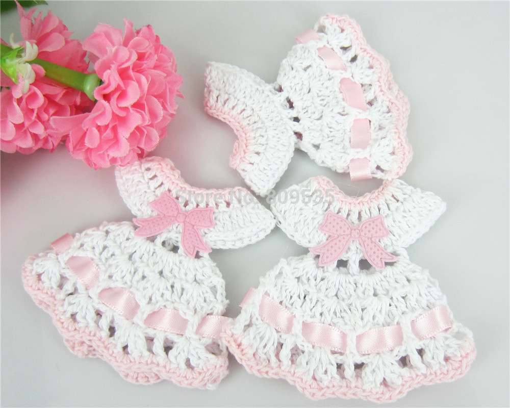 Free Shipping 12 Miniature Crochet Sweater Dress Baby Shower Baptism