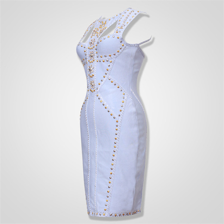 Free-Shipping-2016-Elegant-Women-Dresses-New-Arrival-Light-Blue-Metal-Embellished-HL-Celebrity-Banda-32370799438