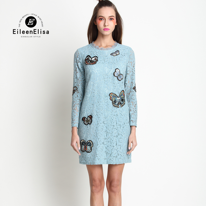 Lace-Dress-Hollow-Out-Long-Sleeve-Spring-Summer-Designer-Runway-Womens-Dresses-32797722439