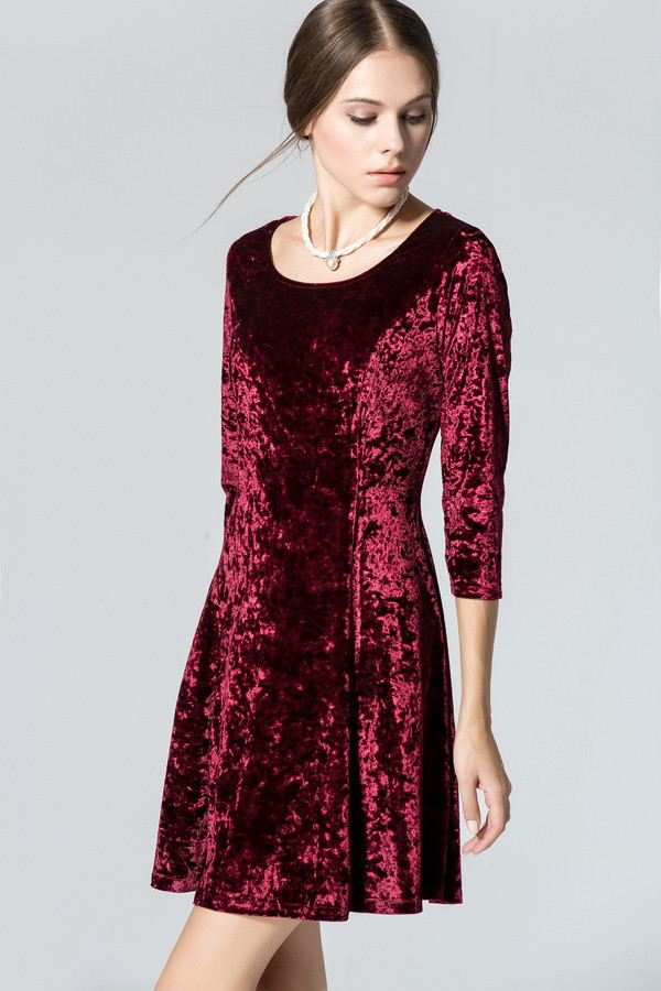 Ladies-Wine-Redding-Dresses-Spring-Velvet-Mini-Dress-Women-Blue-Fashion-Dress-Vestido-Office-Clothin-2053003126