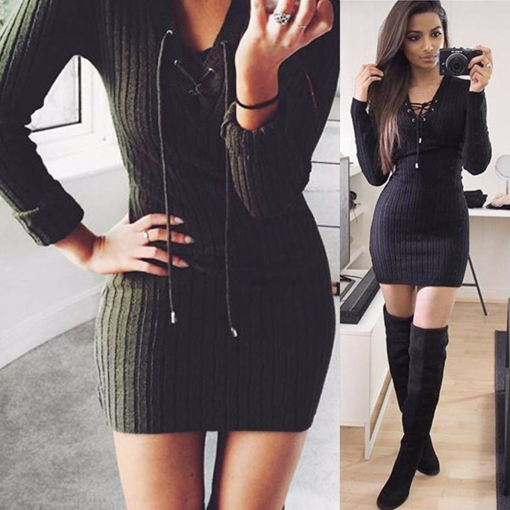 Long-Sleeve-Lace-Up-Casual-Autumn-Winter-Mini-Sweater-Dress-2016-Sexy-Casual-Cotton-Knitted-V-neck-E-32761358727