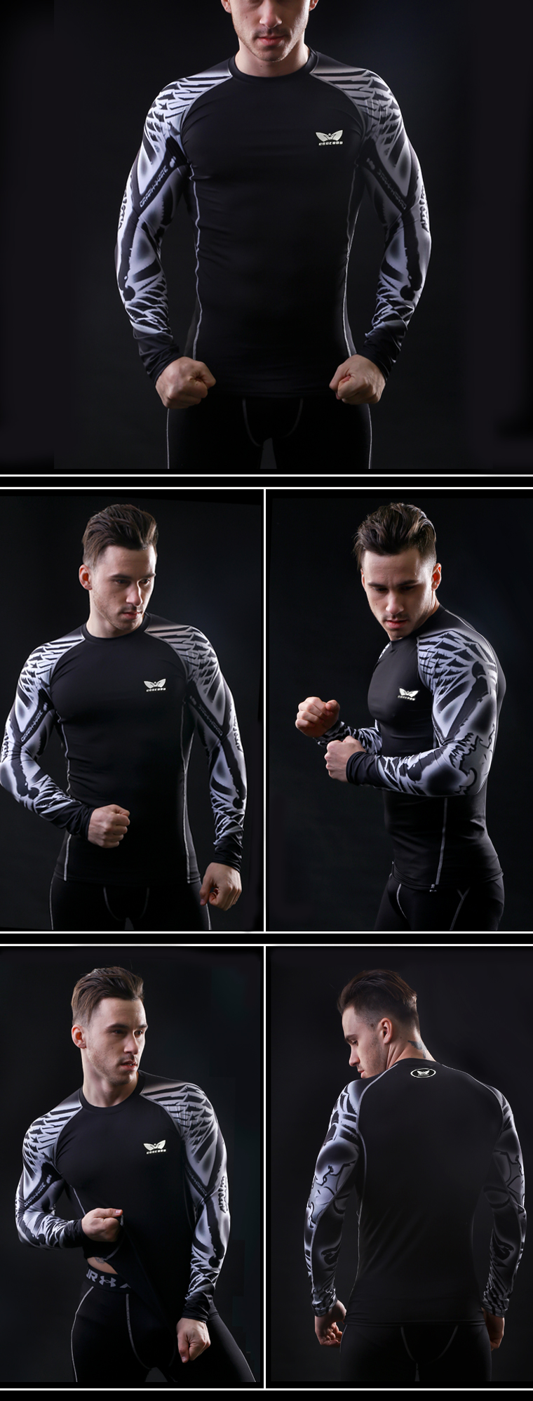 Men-Compression-Long-sleeve-Breathable-Quick-Dry-T-Shirts-Bodybuilding-Weight-lifting-Base-Layer-Fit-32738267011