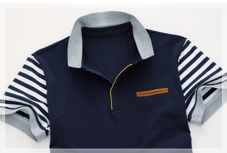Men39s-Polo-Shirt-Style-Summer-New-Men39s-High-quality-Polo-Shirt-Fashion-Leisure-Stripe-Stitching-C-32784899105