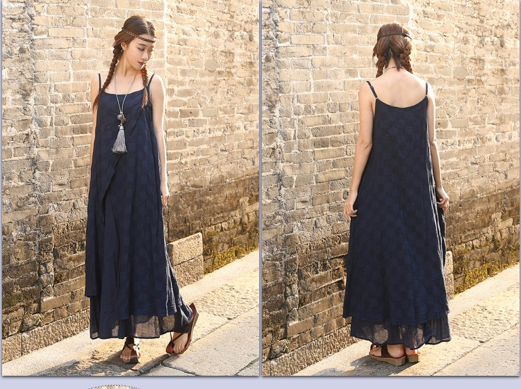 New-2017-summer-cotton-linen-fake-two-piece-loose-strap-dress-Sleeveless-vintage-dresses-for-female--32648919412