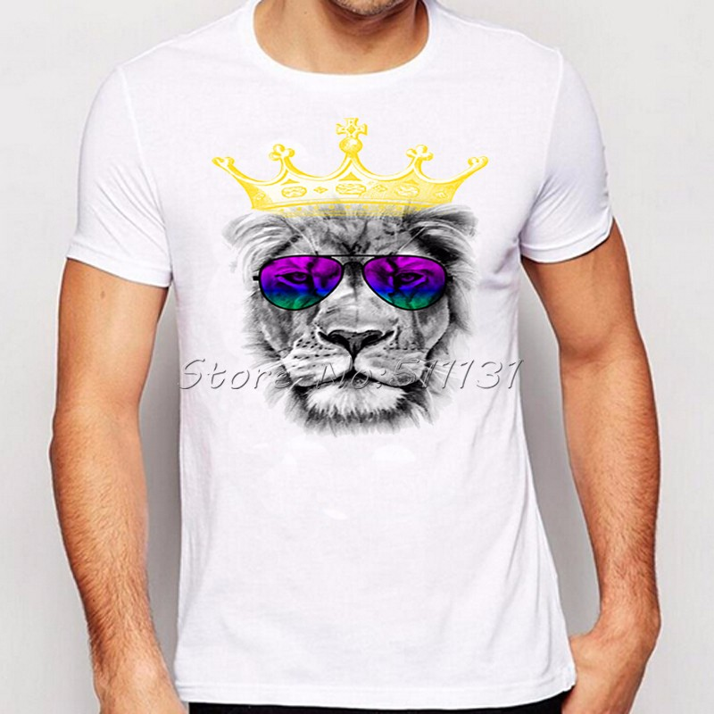 Newest-Fashion-Cool-Crown-Lion-Printed-T-Shirt-Summer-trendy-Mens-Hip-Hop-Short-Sleeve-Tee-Tops-Clot-32655002114