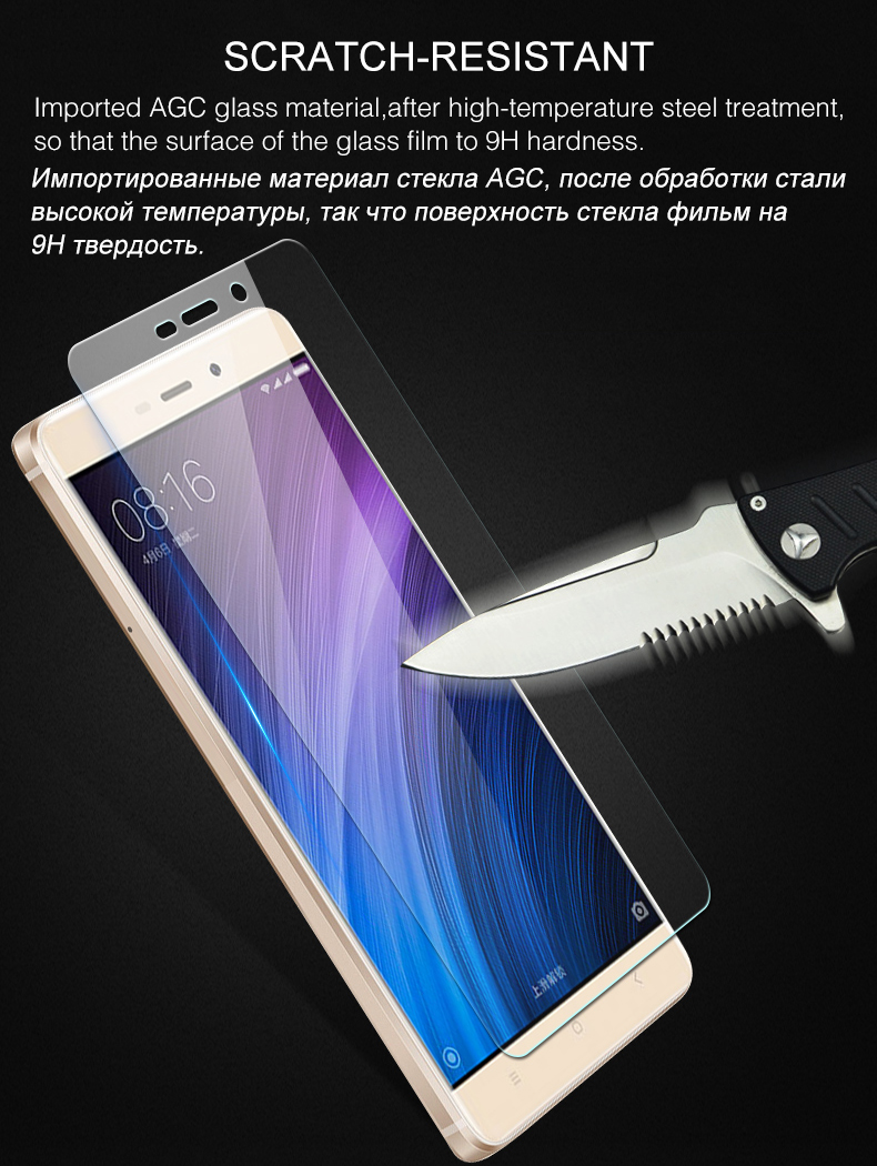Premium Tempered Glass Screen Protector For Xiaomi Redmi 4 Pro Note Full Cover Mi5s White