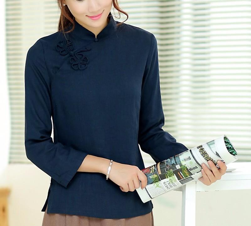 556f89dec Shanghai Story national chinese style top Long Sleeve Cheongsam top ...