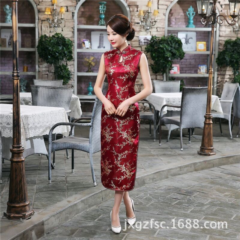 Top-Selling-Traditional-Chinese-Style-Dress-Women39s-Long-Cheongsam-Elegant-Slim-Qipao-Clothing-Size-32660920157