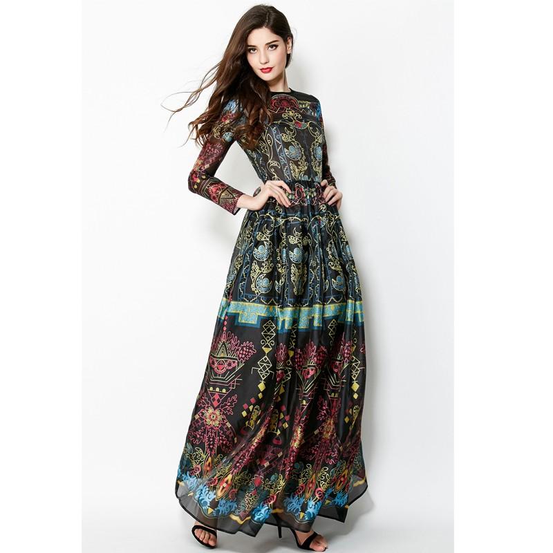 Vintage Dress New 2016 Summer Fashion New High Quality Retro Print ...