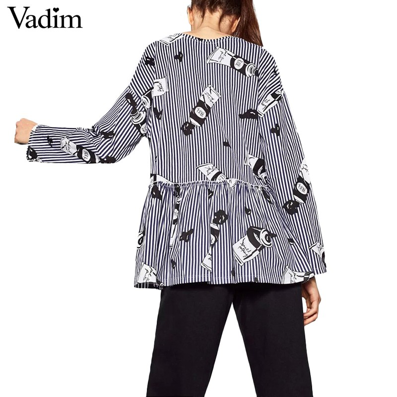 Women-cute-paint-pattern-striped-loose-blouse-pleated-ruffles-blue-white-long-sleeve-shirts-ladies-c-32776759840