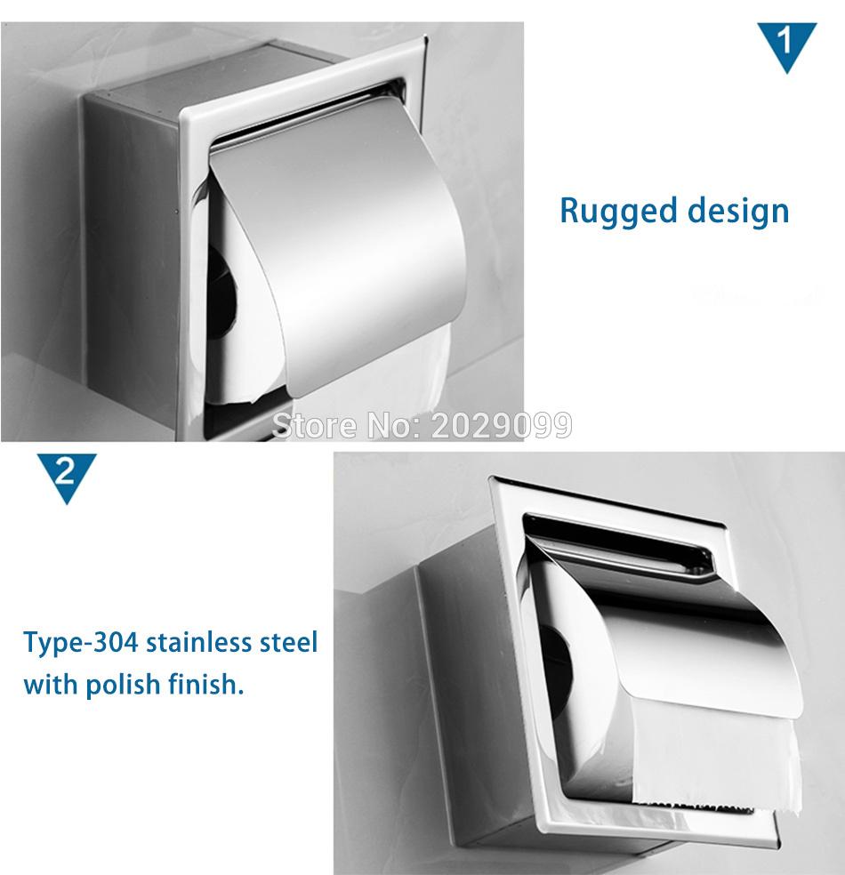 Yanjun Recessed/Wall-in 304 Stainless Steel Toilet Paper Holder ...