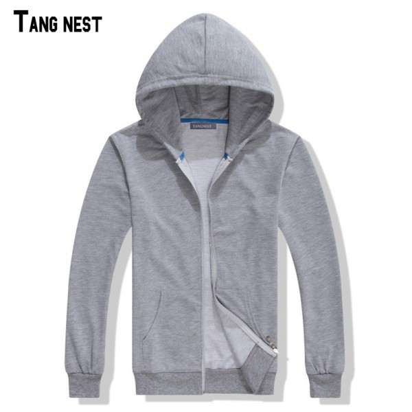 TANGNEST Couple Hoodie 2017 New Arrival Men's Solid Casual Slim Fit Hooded Sweatshirt Male Spring Style Hoodie S-3XL MWW840