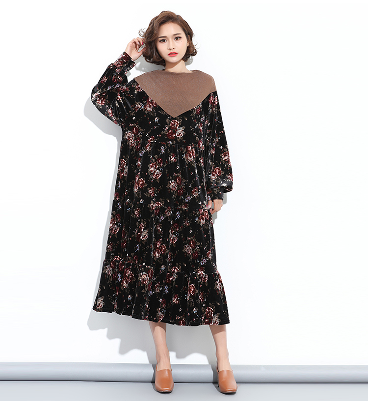2016-Autumn-and-Winter-New-Lady-Fashion-Dress-Velvet-Dress-Splicing-Lantern-Sleeve-Flouncing-Dress-32781646026