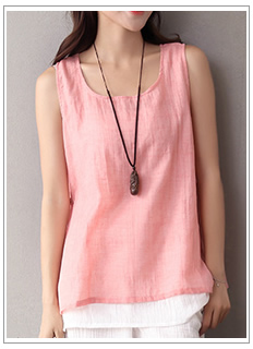 O-neck-Long-sleeve-Cotton-Women-Long-Blouse-Shirt-Plus-size-Loose-Casual-Shirt-Solid-White-Red-Pink--32668707657