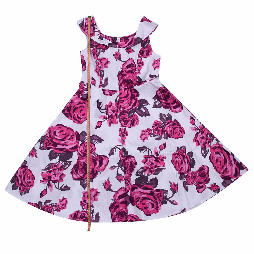 ZAFUL-Brand-Women-Vintage-Dress-Pink-Floral-Big-Size-S2XL-60s-Swing-Feminino-Vestidos-O-Neck-Sleevel-32767822338